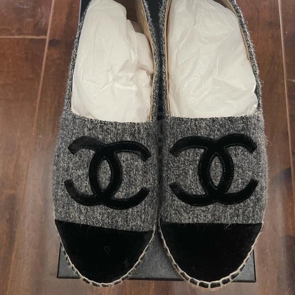 Chanel Velevet/Tweed Espadrilles (rare)